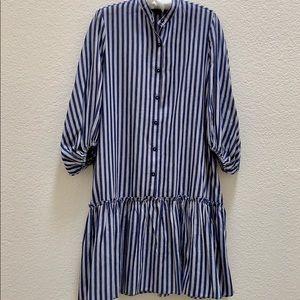 Max Edition Cotton Striped Button Down Dress